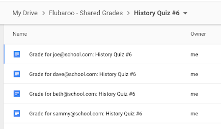 New Ways to Share Grades! - Welcome to Flubaroo