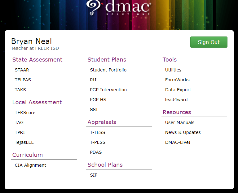 teacher training gradebook dmac and other online tools freer
