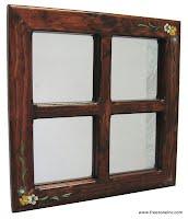miroir avec cadre en bois