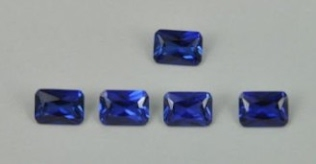 Blue Sapphire-Corundum 343 Color Stone Octagon Princess Cut