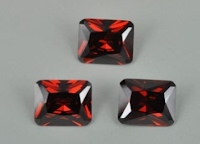 Garnet Color CZ Stone Octagon Princess Cut  China Supplier