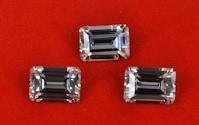 Octagon Step Cut White CZ Stones Emerald Cut China Wholesale
