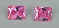 Pink Color CZ Stone Octagon Princess Cut