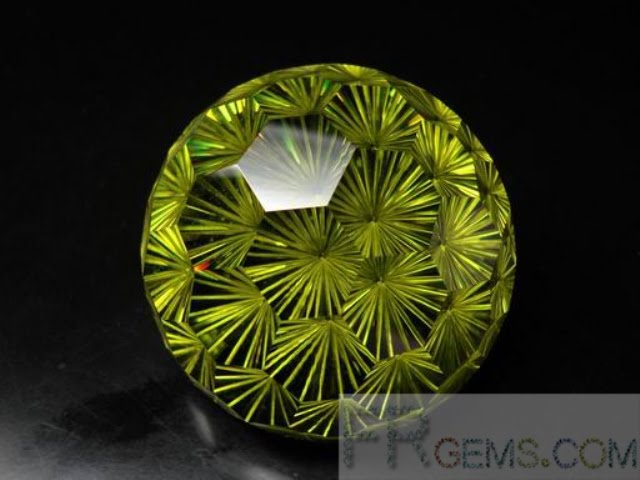 Fireworks Cutting Large Cubic Zirconia Olive Yellow stones