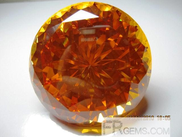 Sunflower Cut large Cubic Zirconia Golden Color 100mm Stones