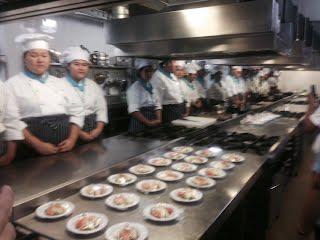 ห้องครัวทันสมัยที่ใช้ในการเรียนการสอนวิชาอาหาร