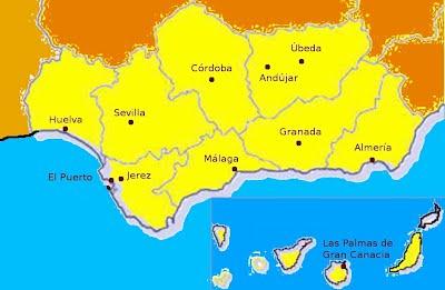 Ciudades con comunidades jesuitas en la Provincia Bética en 2011