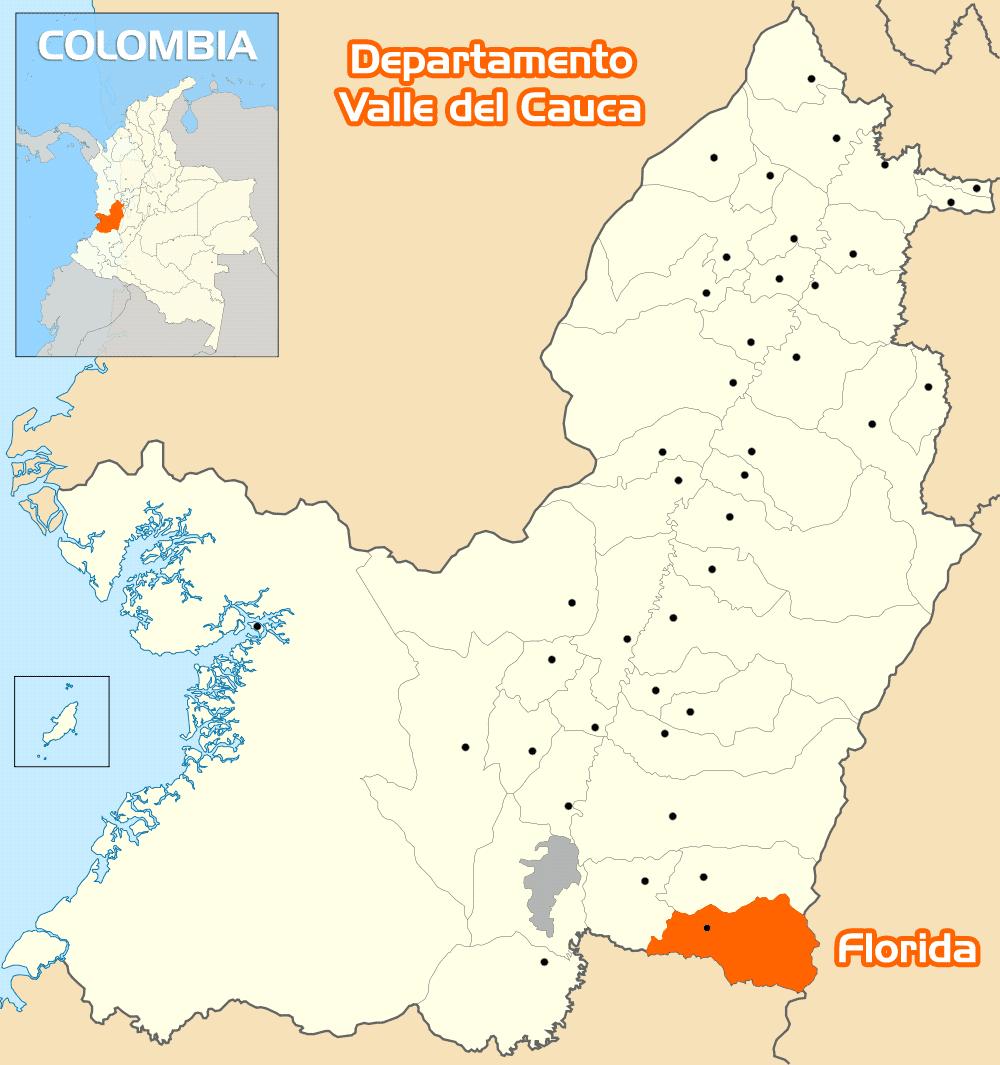 Mapa de Florida Valle