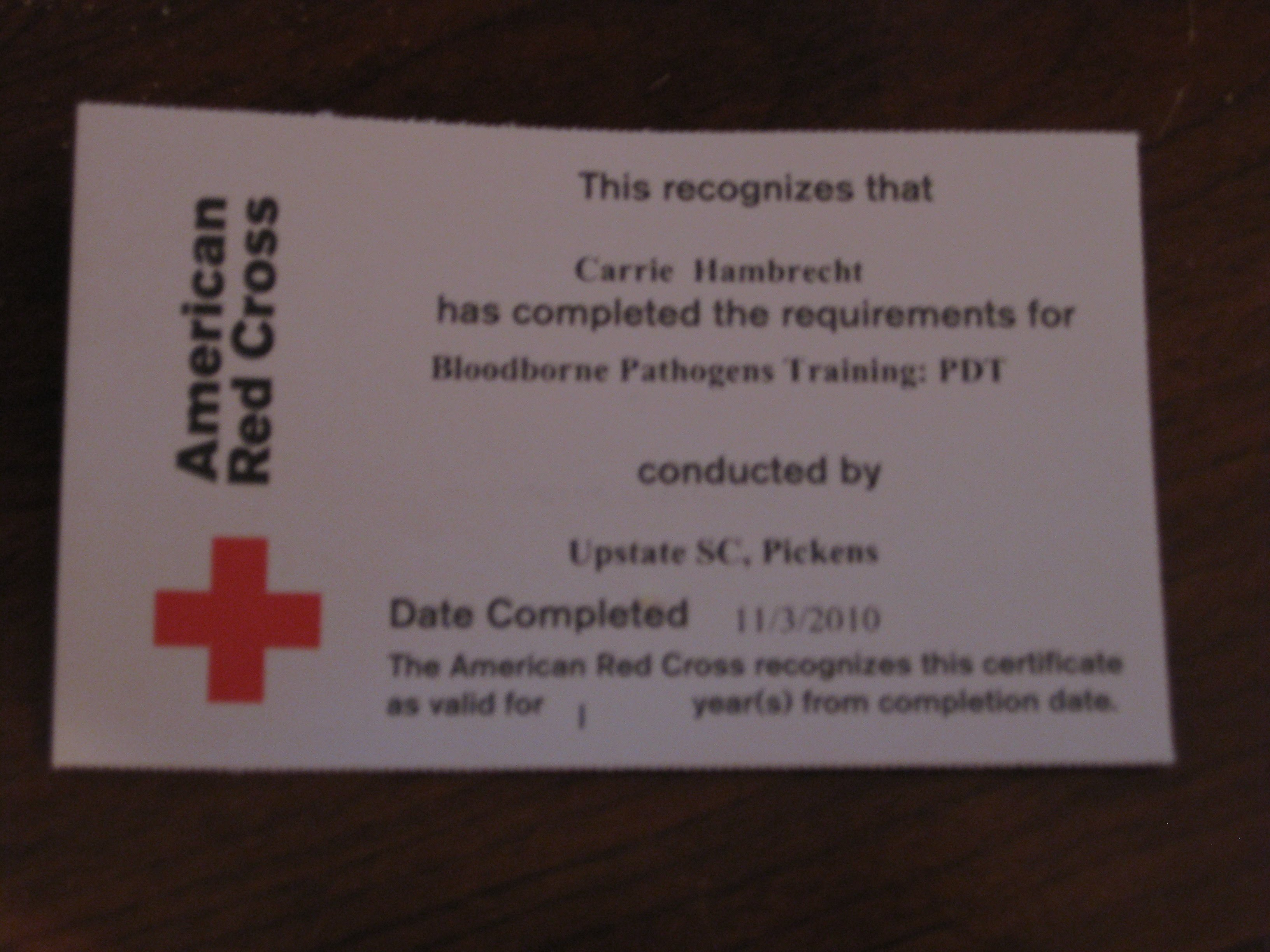 Bloodborne Pathogens Certification Free Professional Resume