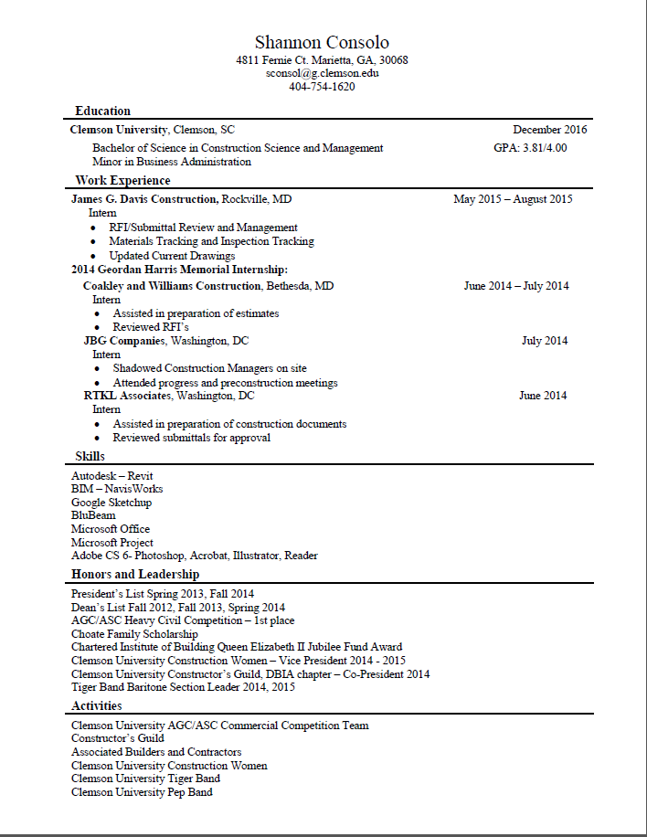 3current resume - Resume Science Internship