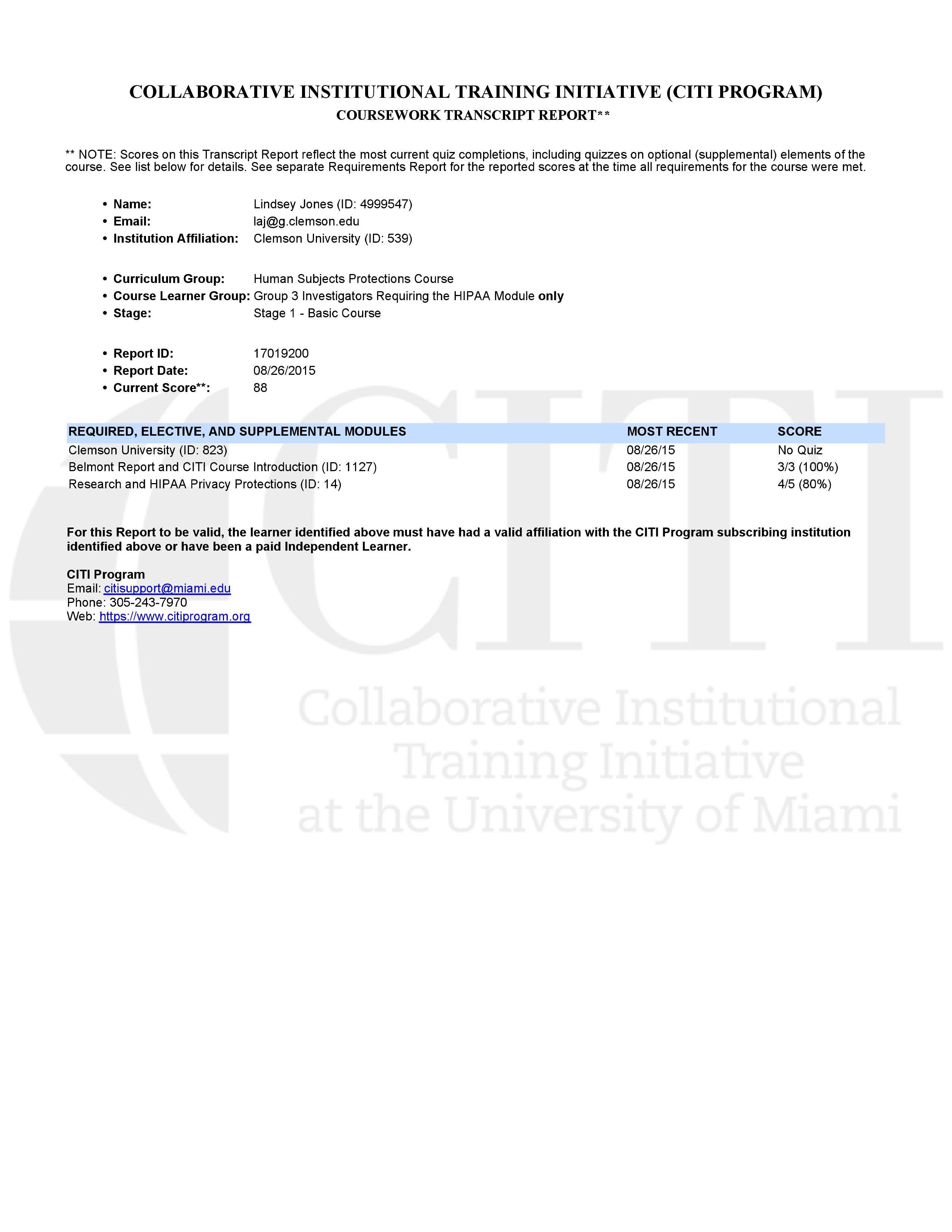 Citi Certification Laj