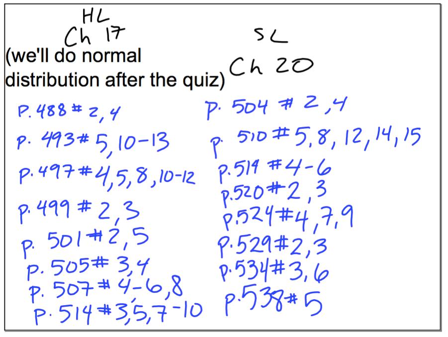 20. Descriptive Statistics - COPPELL IB MATH