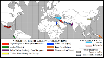 Tigris And Euphrates River World Map.Early Civilizations Ap World History