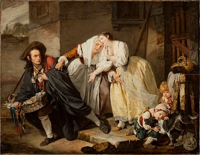 1964.113 - Le Geste Napolitain. Jean-Baptiste Greuze. Oil on canvas.