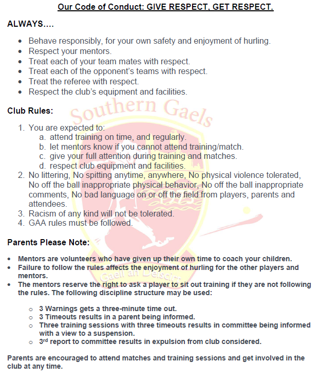 SG Code Of Conduct