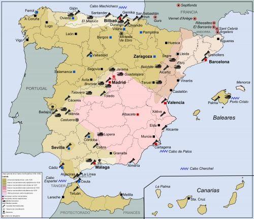 Bilbao Cartina Spagna.8 La Guerra Civile Spagnola Lavorare Stanca
