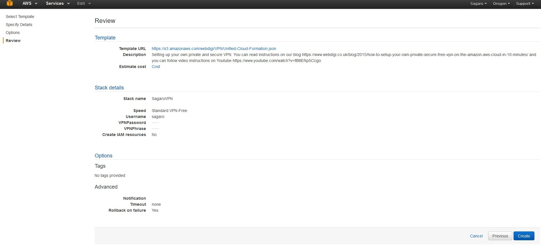 Configuring a free VPN with AWS - Ganesh APP