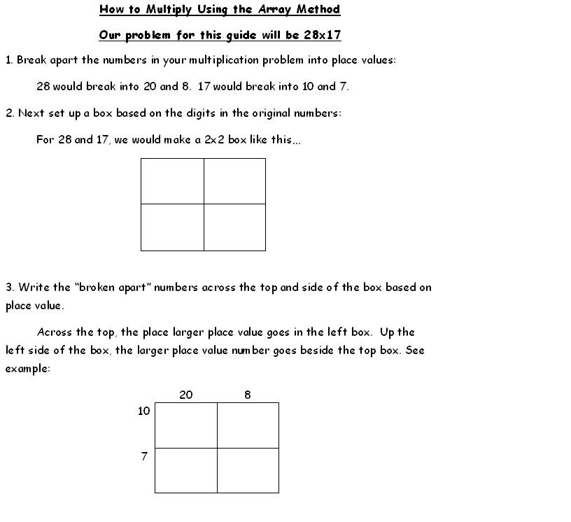 Math-How to do Multiplication Arrays - Mrs. Lemaster\'s Class Page