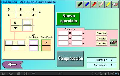 operaciones combinadas con fracciones