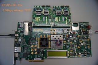 KC705 GF-1xx 10Gbps x4lane TEST KIT