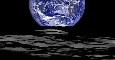 NASA image of the moon passing between NOAA's DSCOVR satellite and Earth.