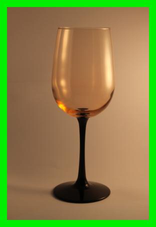 Wine Glass 'Tuxedo on the Beach'