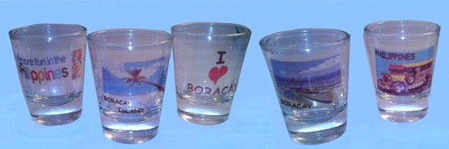 shot glasses with various images