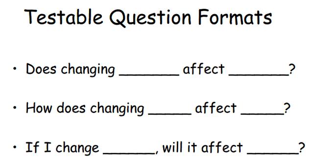 Questions vs  Testable Questions - Miss Reihsmann's Class