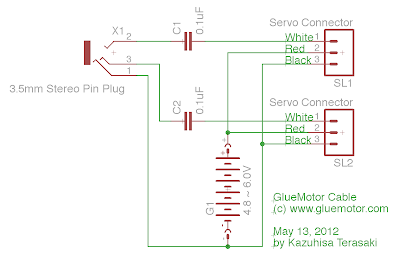 Schematics of GlueMotor Cable