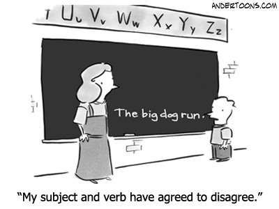 Subjectverb Agreement Descriptive Grammar Lesson Plans
