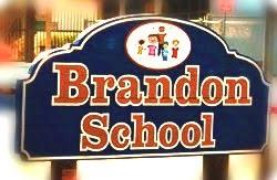 The Brandon School sign