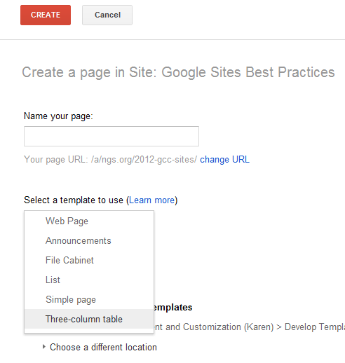 Develop Templates HindSite Google Sites Best Practices - Google pages templates