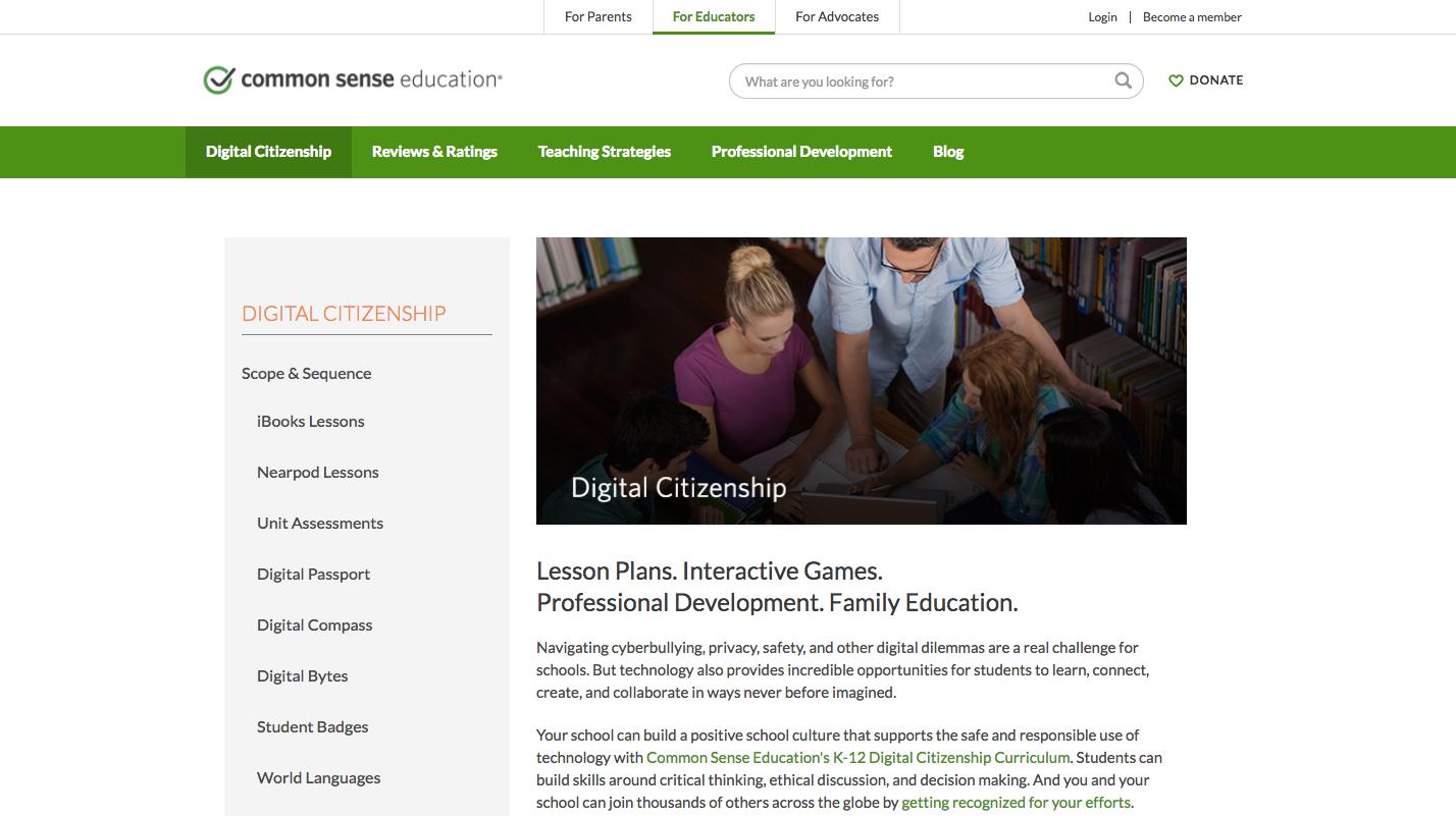 https://www.commonsensemedia.org/educators/digital-citizenship