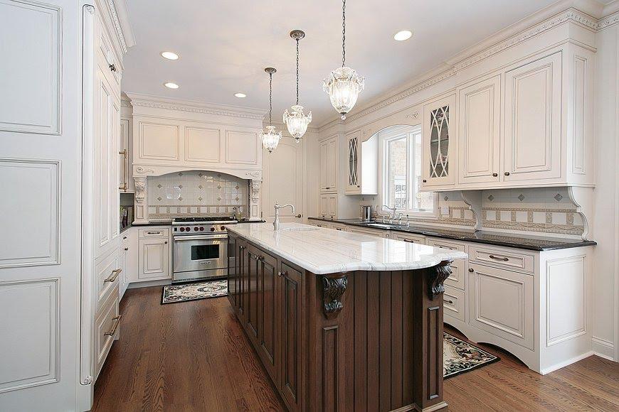 Elegant MARBLE countertops and tiles Kitchen countertops