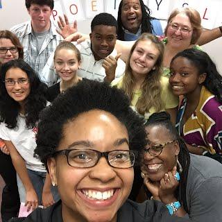 Selfie of our poetry slam
