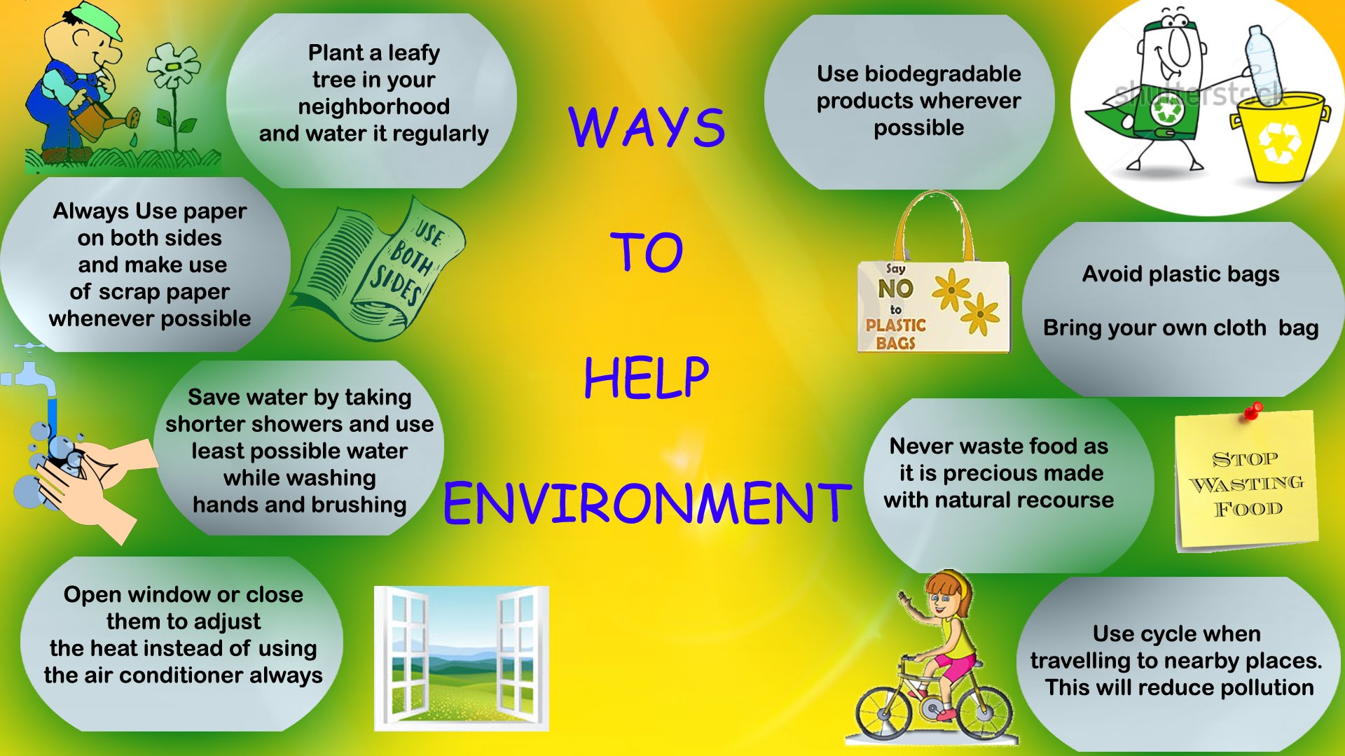 planting trees a way to saving environment Let's resort to simple ways to save the environment here they are follow us: innovatively simple ways to save the environment thinking of ways to save mother earth  go ahead, grow.