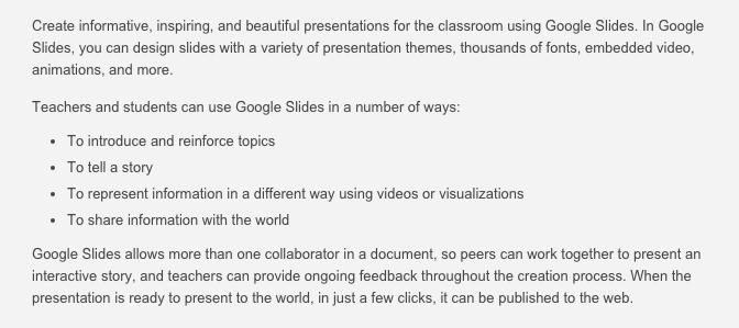 google slides etec 533 gafe tutorial
