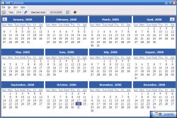 AMP Calendar screen