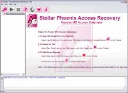 Stellar Phoenix Access Recovery screen 2