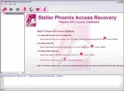 Stellar Phoenix Access Recovery screen 2