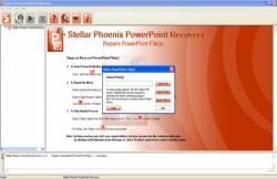 Stellar Phoenix PowerPoint Recovery screen