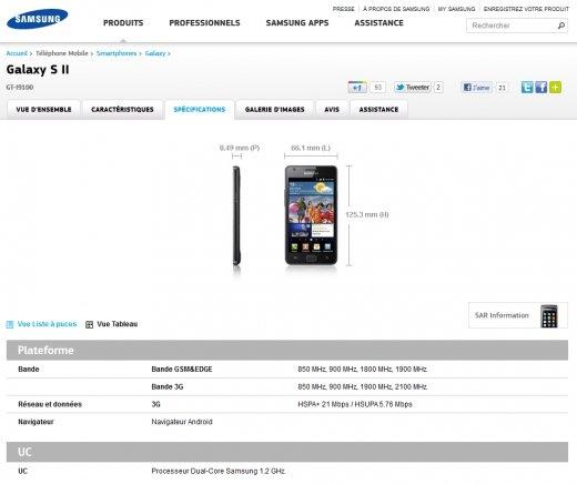 Samsung Galaxy S II Fiche Technique (1).PNG
