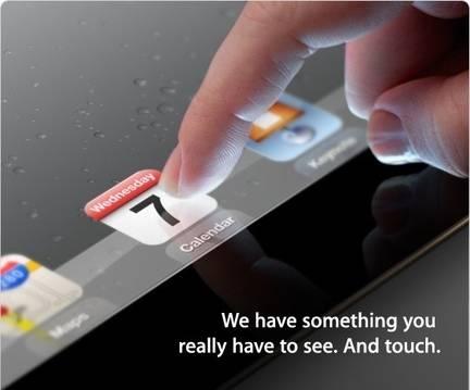 iPad 3 Apple invitation