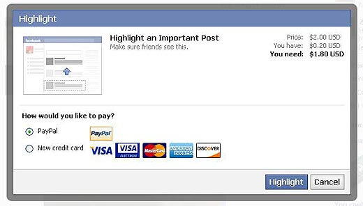 Facebook Statut Payer