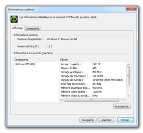 Pilote NVIDIA GeForce GTX 480