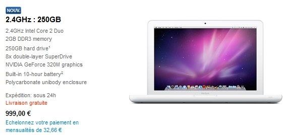 MacBook blanc mai 2009