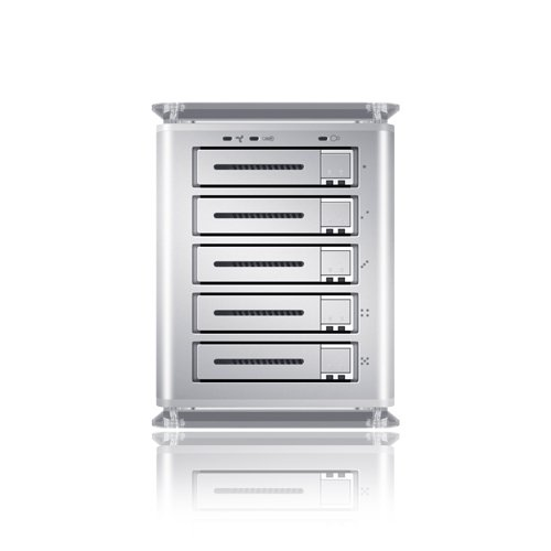 TowerSTOR 5-Bay 2.5-Inch SATA to USB2.0/eSATA Hardware RAID 5 Enclosure TS25CT (Silver)