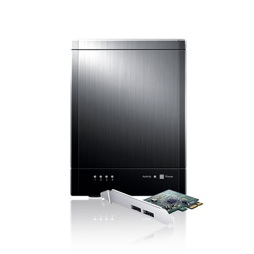 Sans Digital TowerRAID TR5UT+B - 5 Bay USB 3.0/eSATA Hardware RAID 5 Tower with 6G PCIe 2.0 HBA (Black)