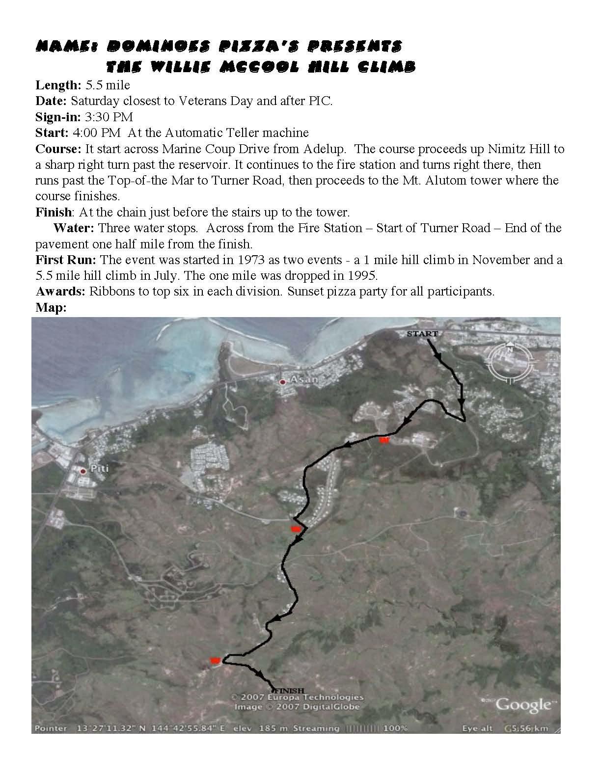 W. McCool Hill Climb 5.5M