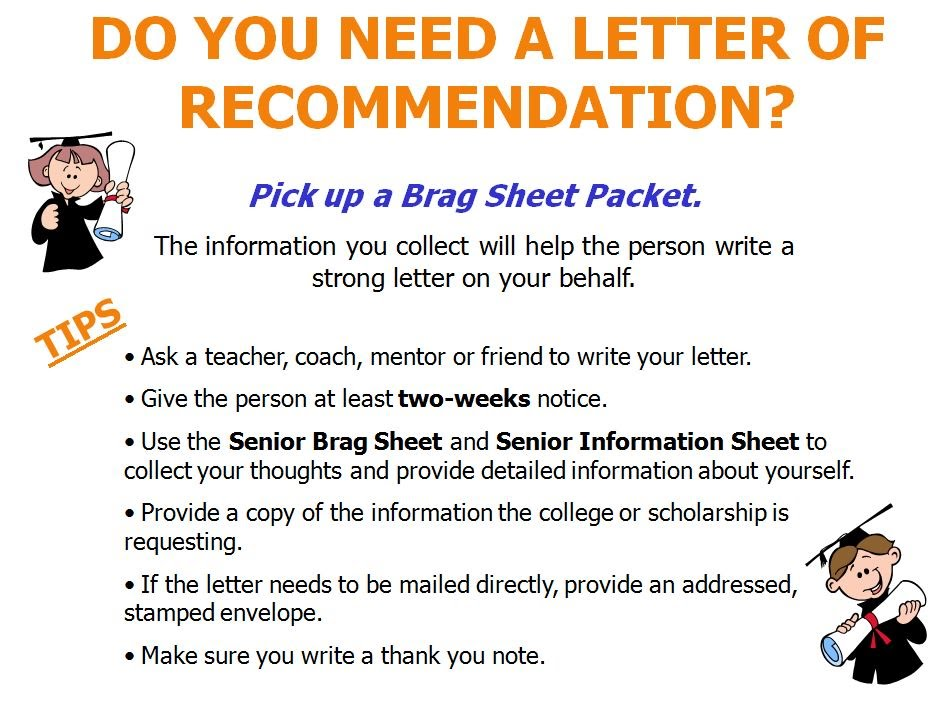 Letters Of Recommendation Vhs Guidance Department